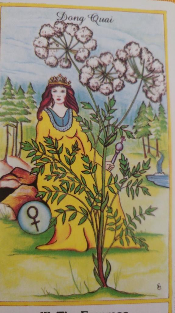 Empress-Herbal-Tarot-Card